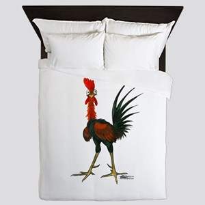 Crazy Rooster Queen Duvet